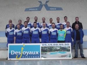 Remise Maillots Desjoyaux 86 soutien équipe foot Tercé Pouillé