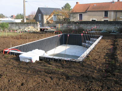 Piscine enterr e kit beton for Kit piscine enterree