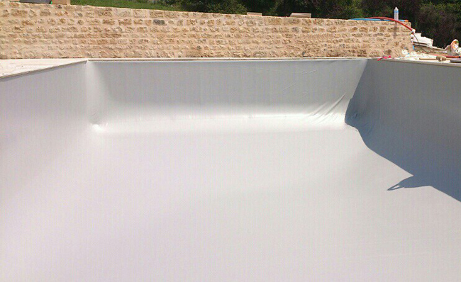 Construction piscine sur mesure b ruges 86 - Liner piscine gris clair ...