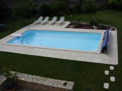 piscine kit enterré béton finie
