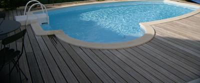 rénovation plage piscine bois